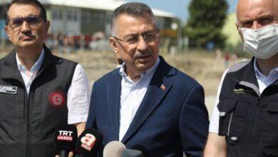 Cumhurbaşkanı Yardımcısı Oktay afet bölgesinde: Su, beslenme ve barınmada sıkıntı yok