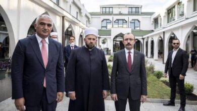 Bakanlar Muş ve Ersoydan Karadağdaki Fatih Mehmet Medresesine ziyaret