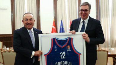Bakan Çavuşoğlu, Sırbistan Cumhurbaşkanı tarafından kabul edildi